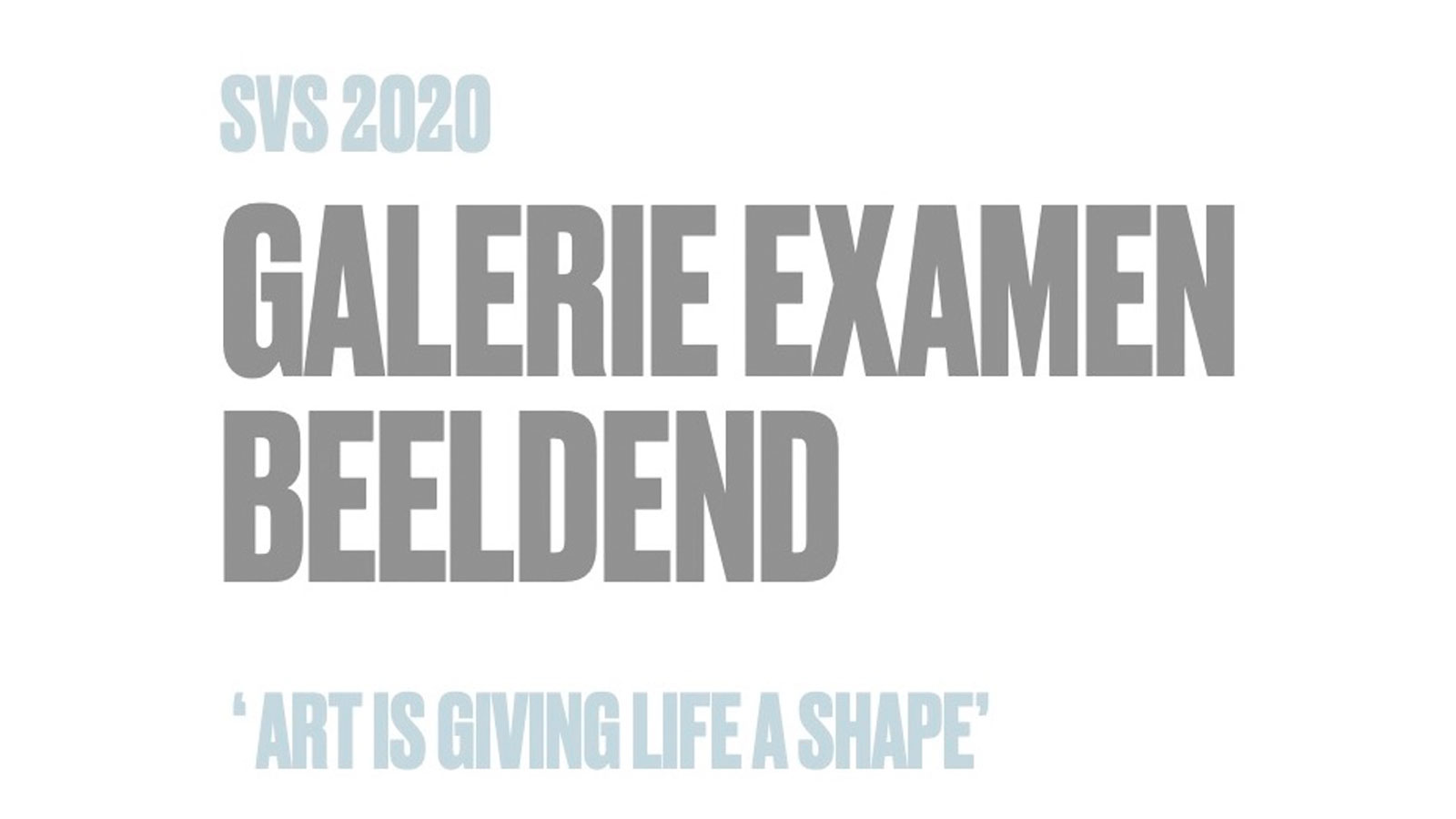 Galerie Examen Beeldend